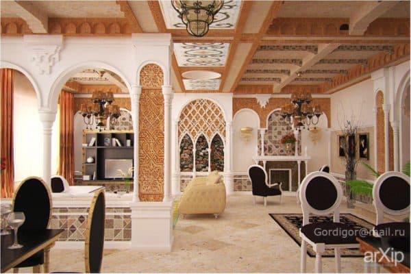 классический интерьер в марокканском стиле
