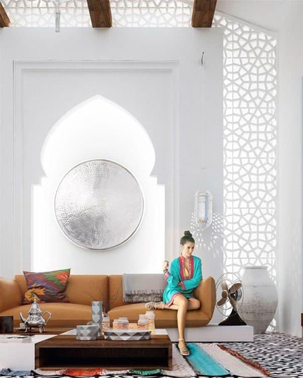современный интерьер в марокканском стиле