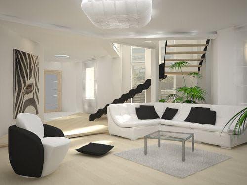 Роскошная гостиная в стиле минимализм