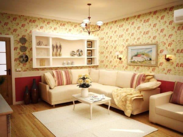 современная гостиная в стиле прованс
