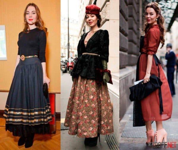 одежда в стиле винтаж