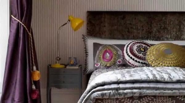 спальня в стиле бохо