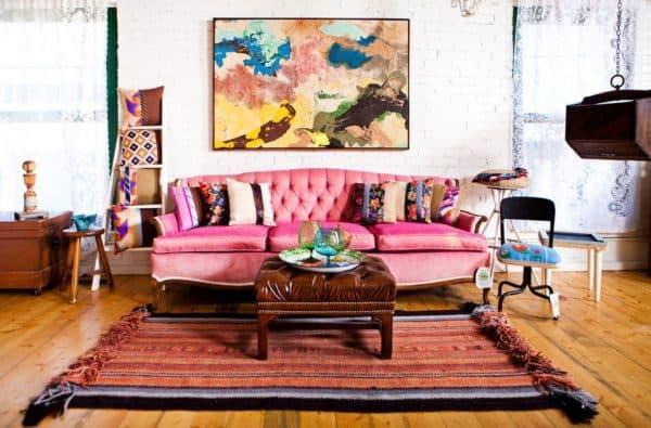 диван в стиле бохо