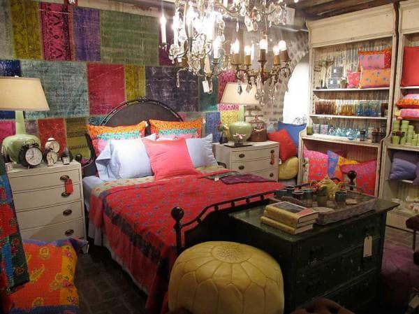 спальня подростка в стиле бохо