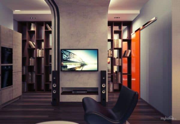 современный дизайн интерьера в стиле гранж