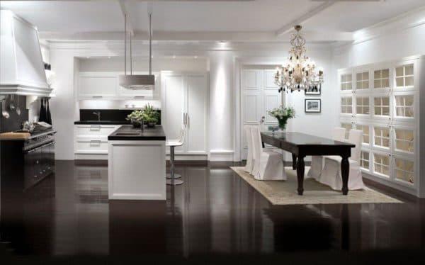 уютная кухня в стиле контемпорари