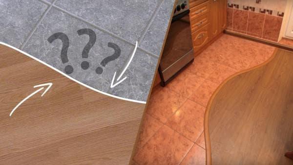 стыковка плитки и ламината без порога