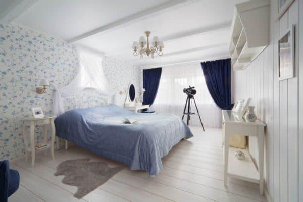 голубые тона и оттенки синего в скандинавском стиле