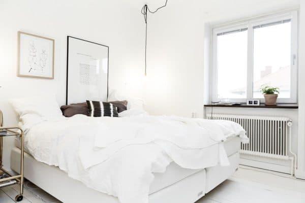 просторность скандинавского стиля за счет белого цвета и больших окон