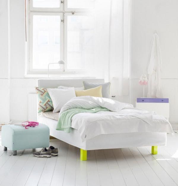 простота и уют скандинавского стиля в спальне