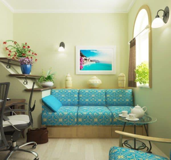 уютная комната в средиземноморском стиле