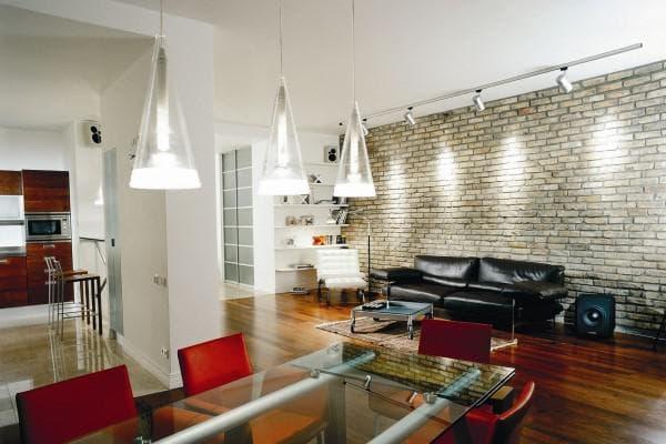 просторные квартиры в стиле техно