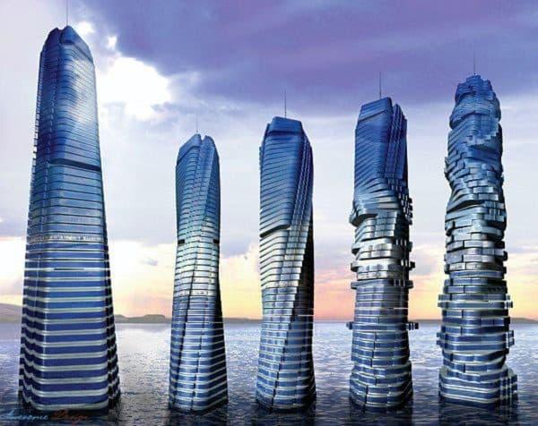 архитектура в стиле техно