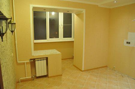 объединение балкона с комнатой фото