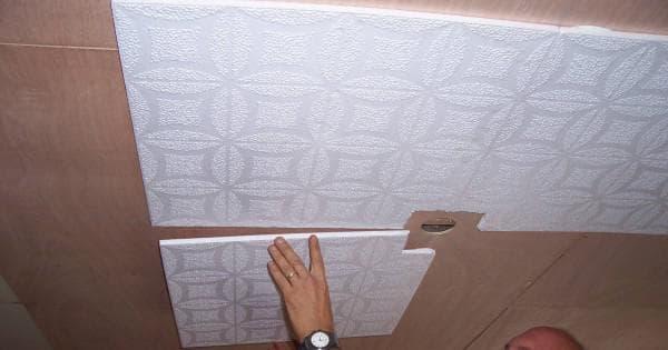 бесшовная плитка на потолок фото