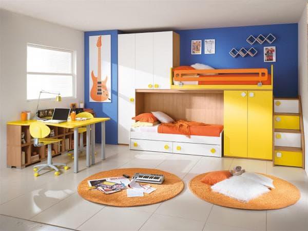 комната для подростков мальчика и девочки