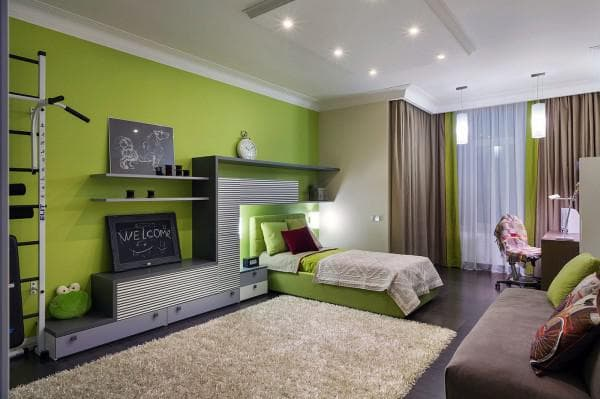 подростковая комната для мальчика и девочки