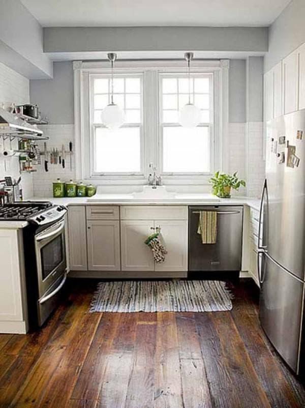 дизайн длинной кухни фото