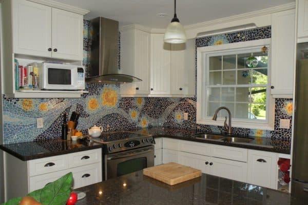 плитка мозаика для кухни на фартук цена