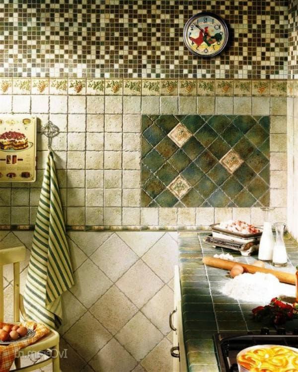 фартук из мозаики на кухню фото