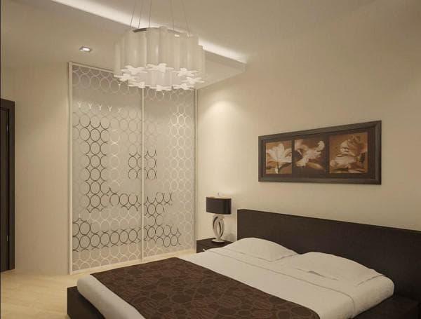 обои для спальни комбинированные