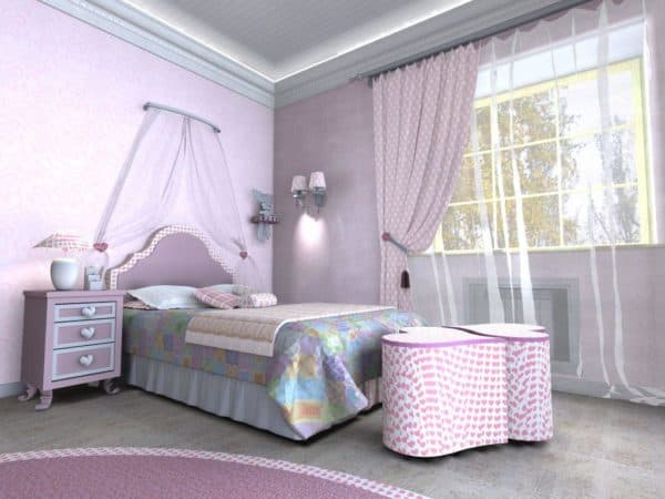 интерьер спальни подростка девочки