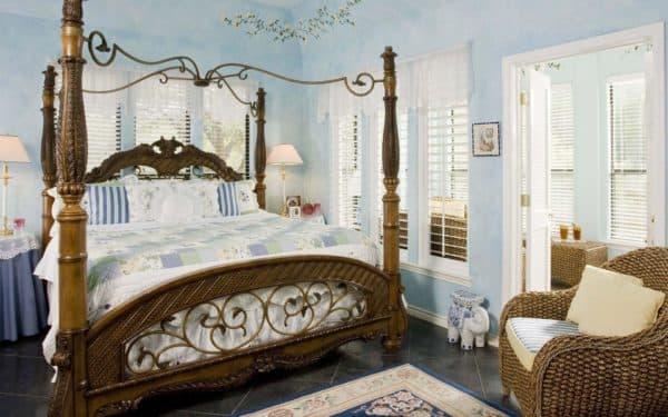 стиль кантри в дизайне спальни