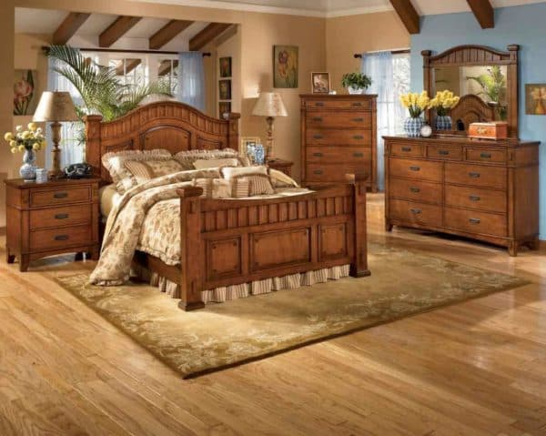 дерево в стиле ретро дизайна спальни