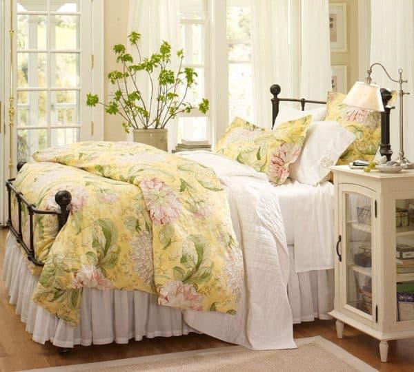 ретро стиль в дизайне спальни