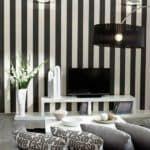 Черно белые обои для стен
