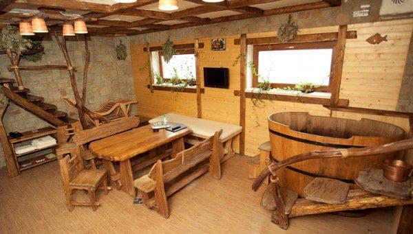 Мебель для комнаты отдыха в бане