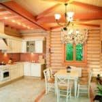 Кухня в деревянном доме: особенности интерьера и варианты оформления