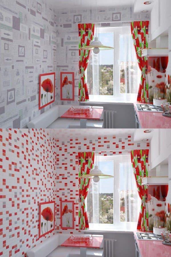 обои для маленькой кухни дизайн фото, обои для маленькой кухни, обои на маленькую кухню фото, обои для маленькой кухни в хрущевке фото, обои на маленькую кухню в интерьере фото, какие обои выбрать для маленькой кухни фото,