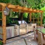 Проекты летних кухонь для дач и загородных домов